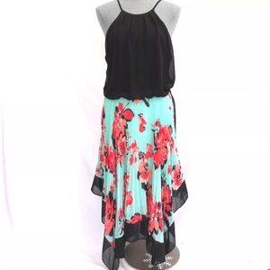 Bisou Bisou Blouson according Floral Dress Sz 10